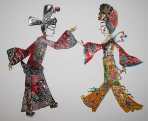 personnages en ombres chinoises