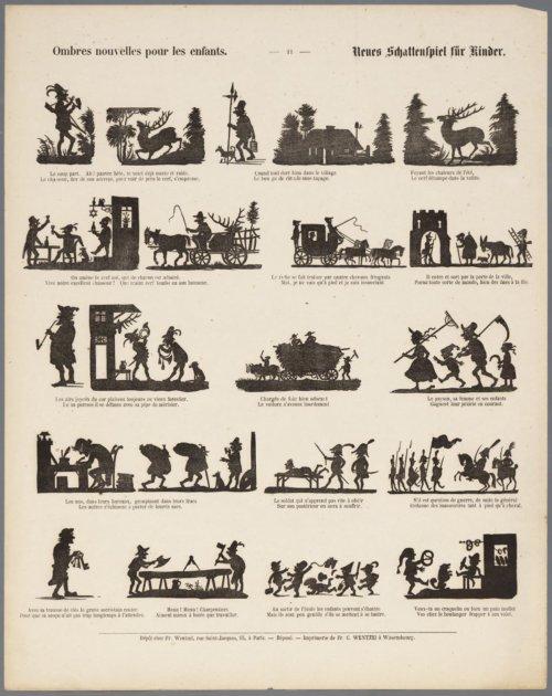 scènes en ombres chinoises silhouettes
