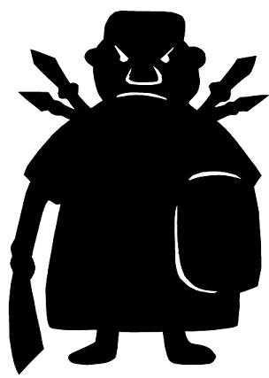 homme guerrier chasseur africain en théâtre d`ombres ombres chinoises silhouettes marionnettes