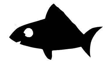 poisson aquarium en théâtre d`ombres ombres chinoises silhouettes marionnettes