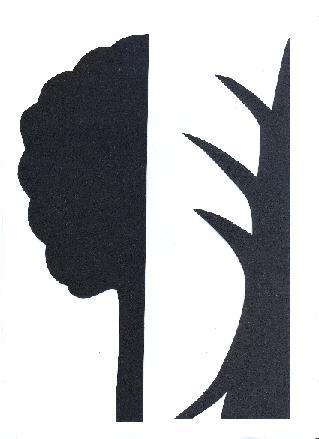 arbre décor la cigale et la fourmi théâtre d`ombres ombres chinoises silhouette