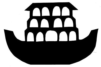 ache de noé, bateau en ombres chinoises, silhouettes marionnettes, théâtre d`ombres, bible