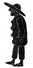 homme en theatre d`ombres ombres chinoises silhouettes marionnettes