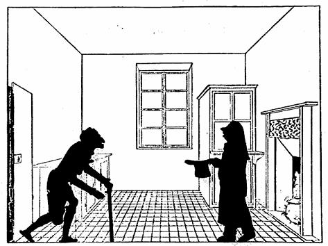 cuisine en théâtre d`ombres ombres chinoises marionnettes silhouettes