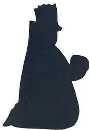 Balthazar à genoux roi mage bible nativité en théâtre d`ombres ombres chinoises silhouettes marionnettes
