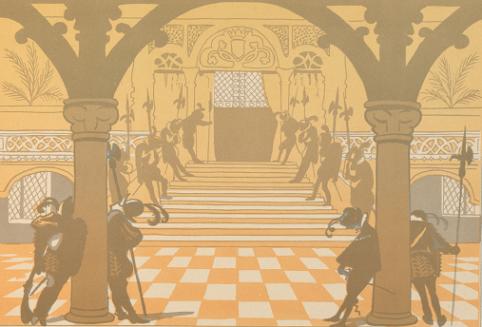 La Belle au bois dormant, Jane Vieu, Lucien Métivet, ombres chinoises, theatre d`ombres, silhouettes, marionnettes, conte
