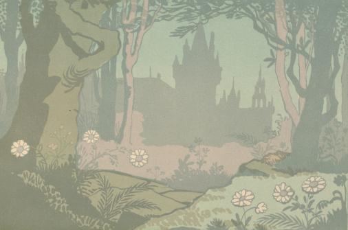La Belle au bois dormant, Jane Vieu, Lucien Métivet, conte, ombres chinoises, theatre d`ombres, silhouettes, marionnettes