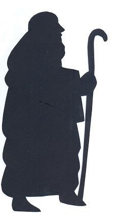 berger bible nativité en théâtre d`ombres ombres chinoises silhouettes marionnettes