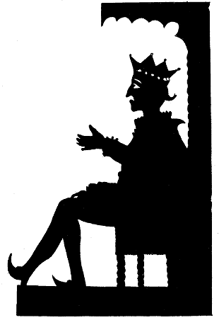 Roi Béta en ombres chinoises, théâtre d`ombres, silhouettes, marionnettes, Lemercier de Neuville