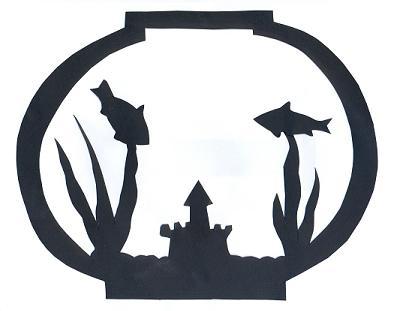aquarium en théâtre d`ombres ombres chinoises silhouettes marionnettes