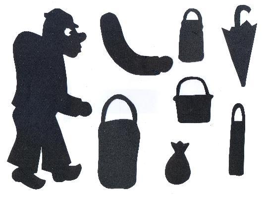le petit bossu en théâtre d`ombres chinoises silhouettes