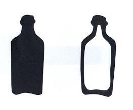 bouteille en théâtre d`ombres ombre chinoise marionnette silhouette