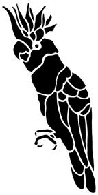 cacatoès oiseau en théâtre d`ombres ombre chinoise marionnette silhouette