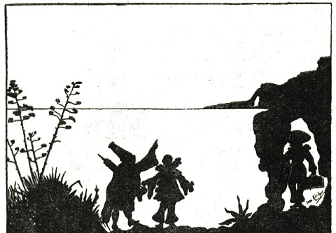 Dessin Jean Kerhor en theatre d`ombres ombres chinoises silhouettes marionnettes
