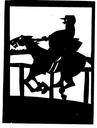 cavalier personnage homme en théâtre d`ombres ombres chinoises marionnettes silhouettes