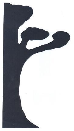 arbre bible en théâtre d`ombres ombres chinoises silhouettes marionnettes nativité