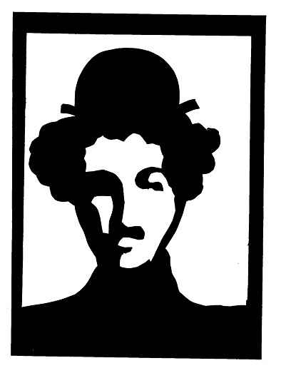 Charlot Charlie Chaplin en théâtre d`ombres ombres chinoises marionnettes silhouettes