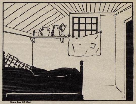 chambre décor en théâtre d`ombres chinoises silhouettes