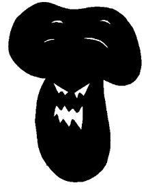 champignon, lactaire, ombres chinoises, silhouettes, marionnettes, theatre d`ombres