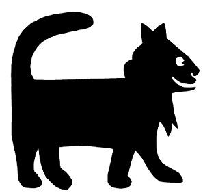 chat en théâtre d`ombres ombres chinoises silhouette marionnette