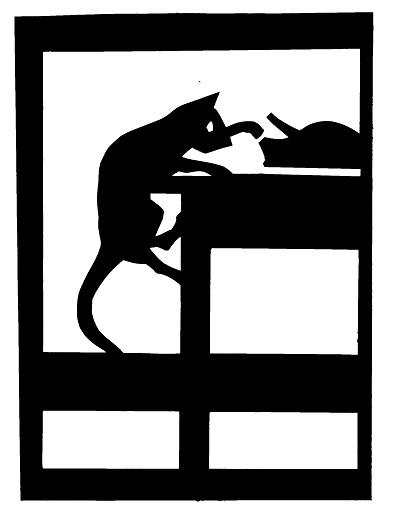 chat et rat animaux en théâtre d`ombres ombres chinoises marionnettes silhouettes