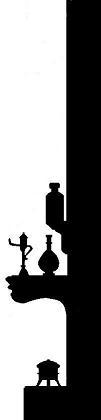 cheminée décor en théâtre d`ombres ombre chinoise marionnette silhouette