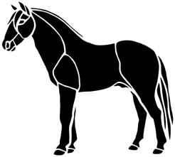 cheval en théâtre d`ombres chinoises silhouette marionnette