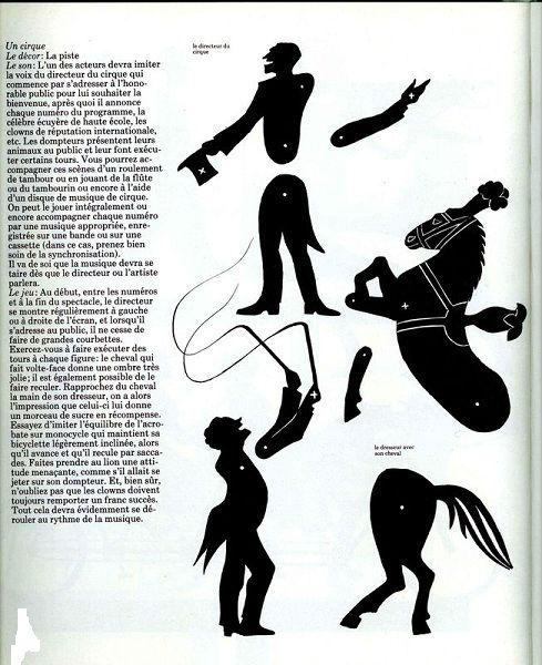 cirque en théâtre d`ombres ombres chinoises silhouette marionnette