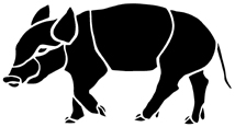 cochon porc en théâtre d`ombres ombres chinoises silhouette marionnette