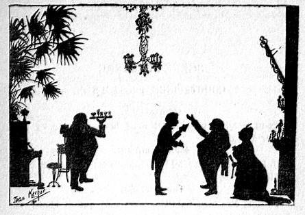 La soirée courtepince Lemercier de Neuville Jean Kerhor ombres chinoises théâtre d`ombres silhouettes marionnettes chinese shadow free
