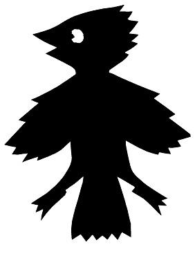 coucou oiseau en theatre d`ombres ombres chinoises silhouettes marionnettes