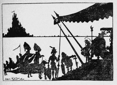 le bon roi Dagobert ombres chinoises théâtre d`olmbres silhouettes marionnettes free