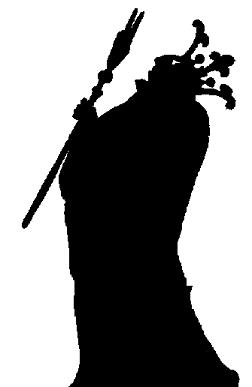 dagobert homme en théâtre d`ombres ombres chinoises marionnettes silhouettes