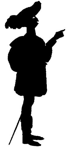 dagobert perchelongue homme en théâtre d`ombres ombres chinoises marionnettes silhouettes