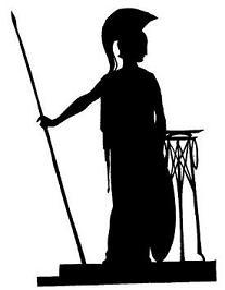 femme grecque en theatre d`ombres ombres chinoises marionnettes déesse