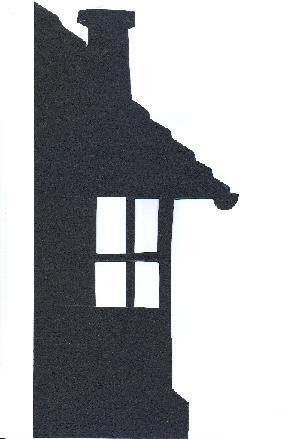maison décor en ombre chinoise théâtre d`ombres silhouette marionnette