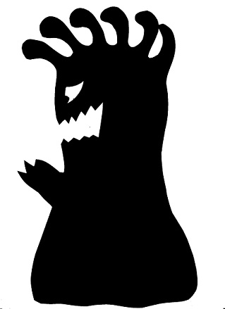 extra-terrestre personnage en théâtre d`ombres ombres chinoises silhouette marionnette