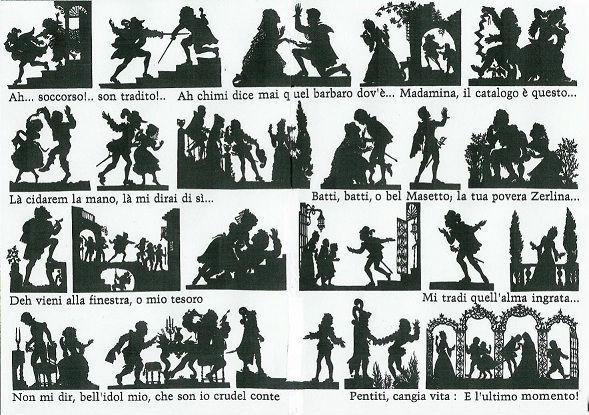 Don Juan opéra Mozart Lotte Reiniger en théâtre d`ombres ombres chinoises silhouettes marionnettes