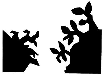 campagne en théâtre d`ombres ombres chinoises silhouette marionnette