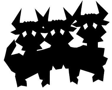 dragon en théâtre d`ombres silhouettes ombres chinoises marionnettes
