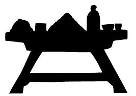 table en théâtre d`ombres ombres chinoises silhouette marionnette