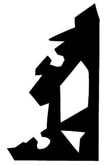 ville en théâtre d`ombres ombres chinoises silhouette marionnette