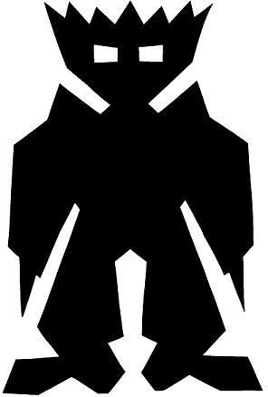 capitaine en théâtre d`ombres ombres chinoises silhouette marionnette