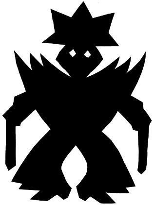 guerrier en théâtre d`ombres ombres chinoises silhouette marionnette