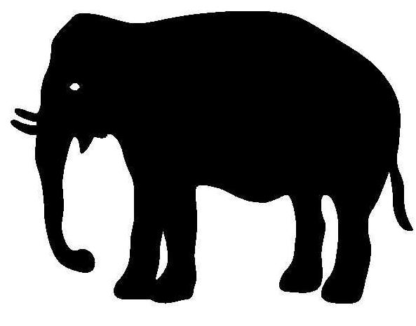 Ombres chinoises et silhouettes - Dessin d un elephant ...