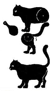 chat animal en theatre d`ombres ombres chinoises silhouettes marionnettes free