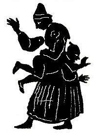 fessée en theatre d`ombres, ombres chinoises, marionnettes, silhouettes, free