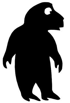 babouin animal en théâtre d`ombres ombres chinoises marionnette silhouette