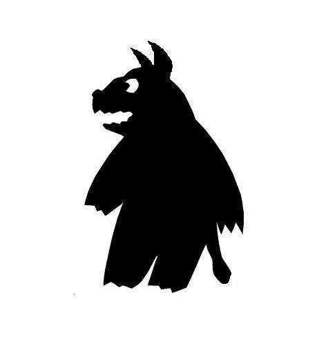 hyène en theatre d`ombres ombres chinoises silhouettes marionnettes
