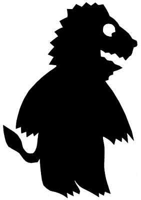 lion animal en théâtre d`ombres ombres chinoises marionnette silhouette